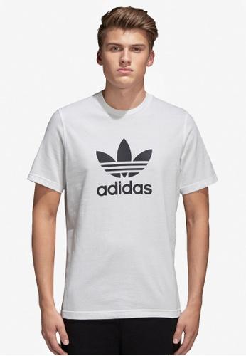 bc72dab76 adidas white adidas originals trefoil t-shirt 679B6AA581BF97GS 1