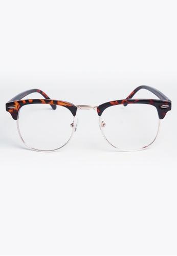 Kyfer's Eyewear & Essentials brown Vintage Half Rim Clubmaster KY376AC66RPHSG_1