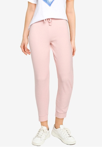 Miss Selfridge pink Petite Nude Brushed Joggers 244DDAAA36F396GS_1