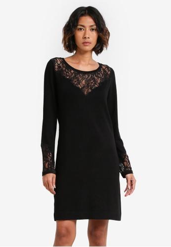 Wallis black Black Lace Paneled Dress WA800AA0RXAQMY_1