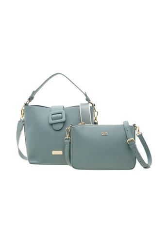 Valentino Creations blue Valentino Creations Genny Bucket Bag, Sling Bag Set BD5D9AC376CFD5GS_1