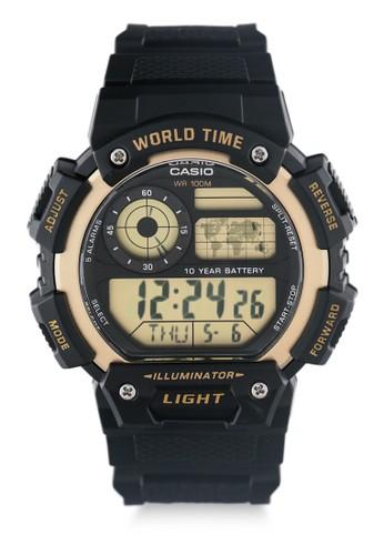 CASIO black Unisex Digital Watches Ae-1400Wh-9Avdf FF144AC1BD2CBCGS_1