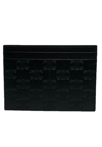CELINE black Celine Multifunction Card Holder in Black D9C0CAC090CD42GS_1