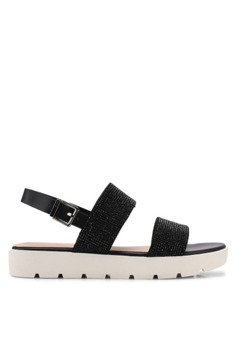 ALDO black Eliraviel Flat Sandals E577DSH36A069AGS_1