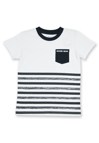 Moose Gear black and white T-Shirt For Boys With Combi Details CW 6A8BBKAF43A956GS_1