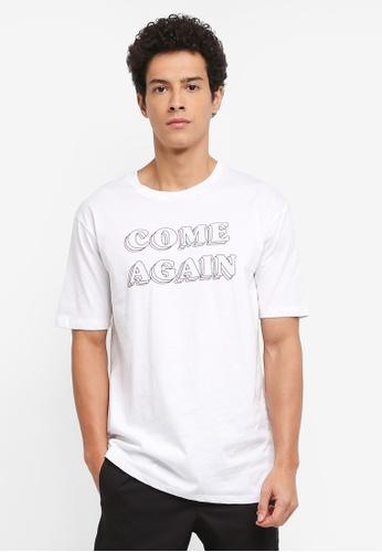 MANGO Man 白色 短袖印花T恤 CA5C4AAE61BD91GS_1