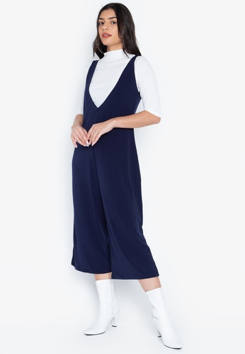 ef5a211db42 Ashley Collection blue and navy Set Of Two High Neck Top And Culottes  Romper A2D28AA583FA6CGS 1