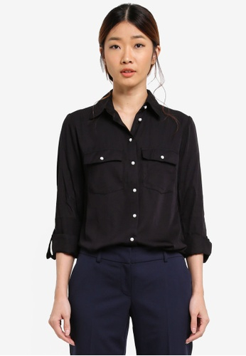 Dorothy Perkins black Soft Touch Casual Shirt C94A6AA5F82FFEGS_1