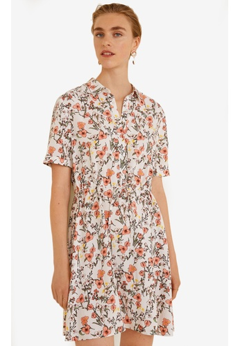 Mango white Printed Shirt Dress 4D597AAD0224F9GS_1