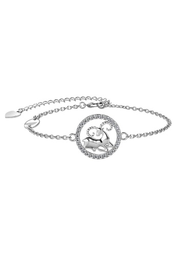 Her Jewellery white Her Jewellery 12 Horoscope Circlet Aries Bracelet (White Gold) embellished with Crystals from Swarovski 2AE01ACF9F032AGS_1