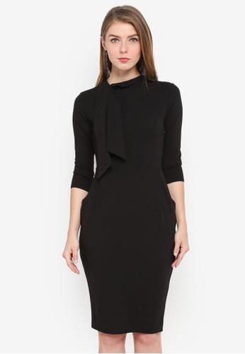 Goddiva black Mini Dress With Pockets 7694BAA260AD74GS_1