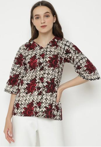 Brahmani Batik multi Wide Sleeve Reswari Batik Top 92CB9AAF6346E4GS_1