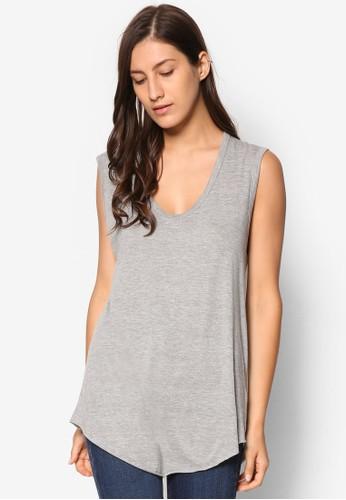 寬版U 領無袖T-shirt、 服飾、 上衣TOPSHOP寬版U領無袖上衣最新折價