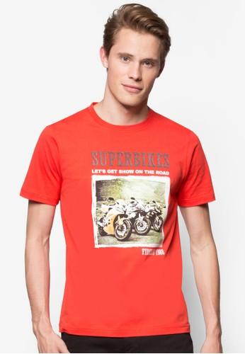 『超級摩托車』esprit女裝圖文T 恤, 服飾, T恤