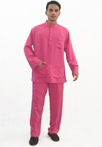Denai Boutique pink Baju Melayu Atta CAF2DAAD6DC653GS_1
