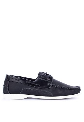 H2Ocean black Taven Boat Shoes Lace up CBC8ASH98581BBGS_1