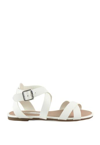 London Rag white London Rag Womens White Stripes Flat Sandals SH1115 LO704SH33TLQHK_1