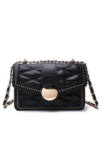 Lara black Women's Fashionable Crossbody Bag 7E2F8AC08BEE83GS_1