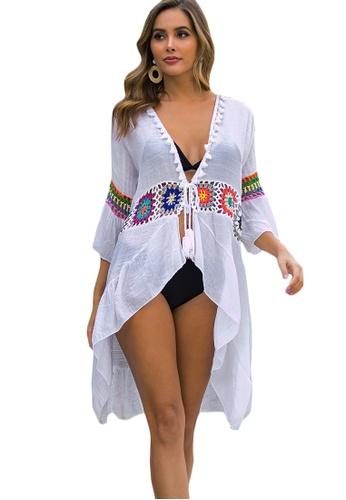 LYCKA white LTH4160-European Style Beach Robe-White 61AACUSBDD3D6EGS_1