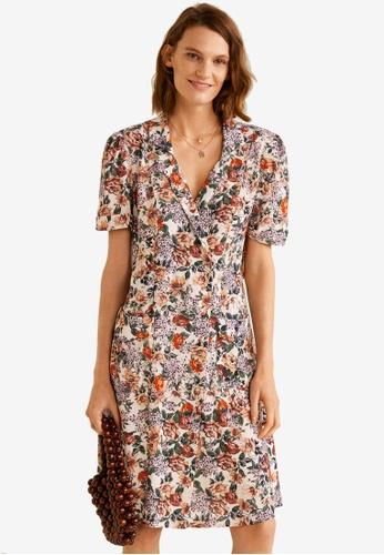 Mango pink and multi Print Wrap Dress 34E29AA1E265C0GS_1