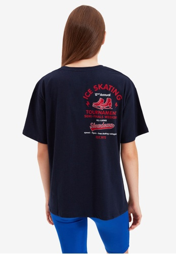 Trendyol navy Graphic T-Shirt 6A232AA326FA2DGS_1