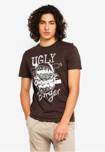 Only & Sons brown Holden Printed T-Shirt 48121AAEE5174CGS_1