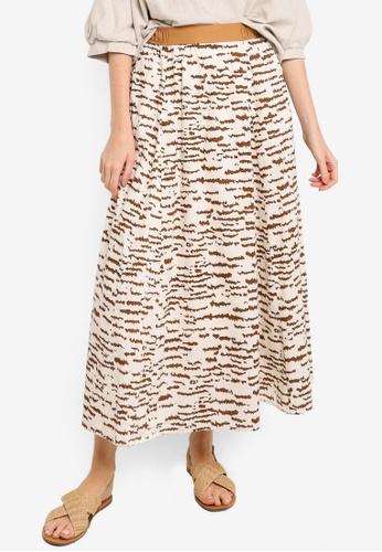 niko and ... brown Printed Skirt 4DD71AAFDE7807GS_1