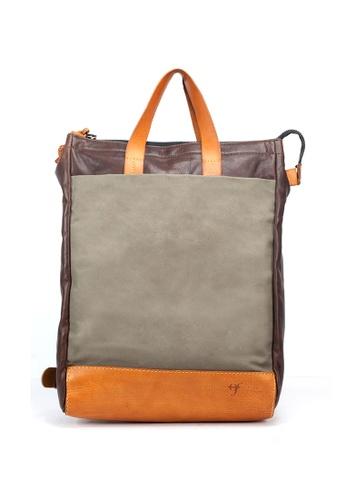 Shu Talk brown Officine Federali Unisex Italian Made Hand Backpack Bag 9AB2EACB6263A1GS_1