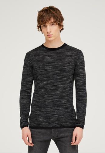 Sisley grey Printed Sweater 06858AA253CCFEGS_1