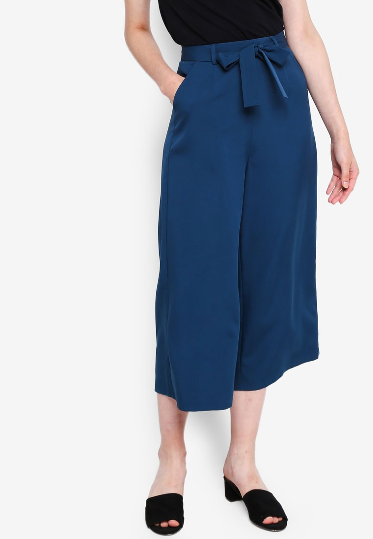 Tie Something Self With Pants Borrowed Teal Culottes zvFwOU