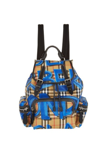 BURBERRY BAG multi BURBERRY MEDIUM RUCKSACK IN GRAFFITI PRINT VINTAGE CHECK 886DCACA2E8BFBGS_1