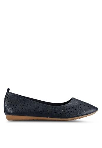BETSY 海軍藍色 Serene Ballet 平底鞋 B6136SH224A86CGS_1