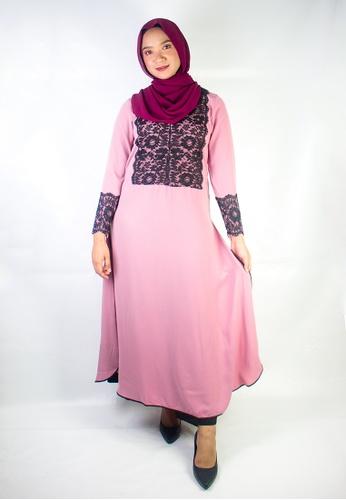Zaryluq pink Nidalace Dress in Dusty Pink 389BBAA116756FGS_1