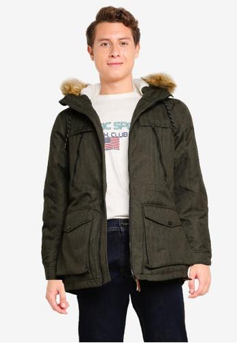 Indicode Jeans green Boe Hooded Parka Jacket C3F24AA7E49613GS_1