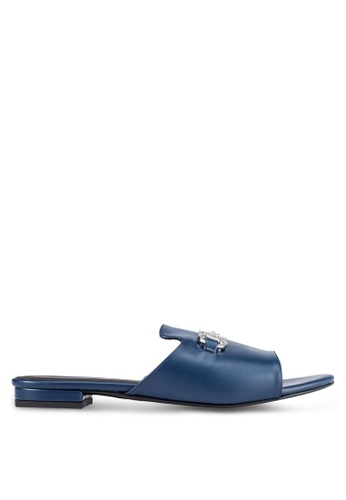 Christy Ng navy Melissa Navy Blue Sliders CH330SH0RXOLMY_1