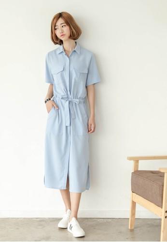 Arika 雙口袋襯衫esprit 內衣式洋裝, 服飾, 知性女強人