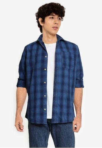 JACK & JONES blue Classic Mix Shirt 8A8A3AA8E2D010GS_1