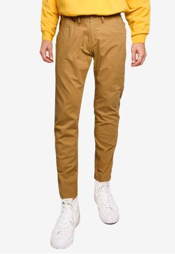 GUESS brown Lucas Pants 8CCAAAAF9B146CGS_1
