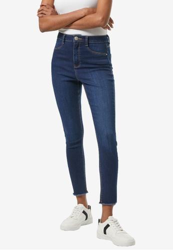 Dorothy Perkins blue PETITE Raw Hem Frankie Jeans 72AEEAA3D0608EGS_1