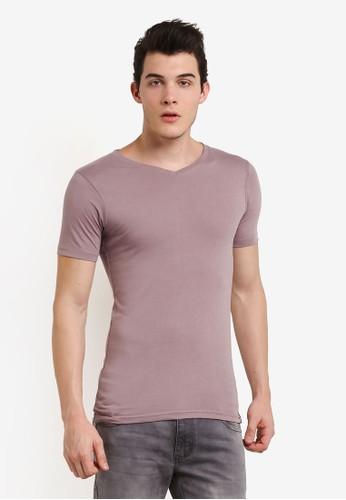 Factorie purple The Legacy Vee T-Shirt FA113AA0UA18ID_1