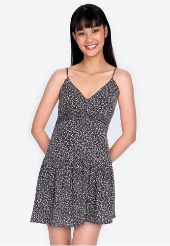 ZALORA BASICS multi V-Neck Cami Mini Dress 080E8AAE08ACDDGS_1
