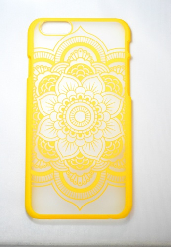 Fancy Cellphone Cases yellow Flower Mandala for iPhone 6 FA644AC11EWQPH_1