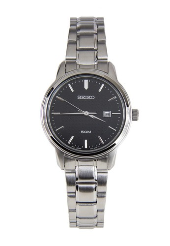 Seiko silver Seiko Jam Tangan Wanita - Silver Black - Stainless Steel - SUR747P1  SE382AC0VPP7ID_1