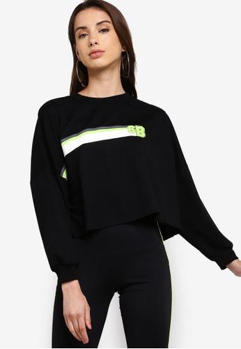 Something Borrowed black Neon Graphic Cropped Sweatshirt E7408AAE36CA6EGS_1