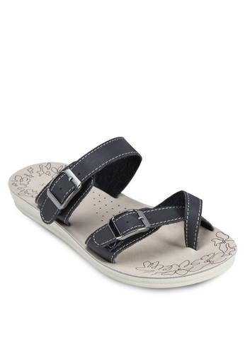 雙扣esprit 內衣環帶印花厚底涼鞋, 女鞋, 涼鞋