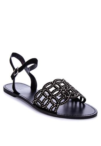 S&H black Arce Sandals EBC7FSH6419AE5GS_1