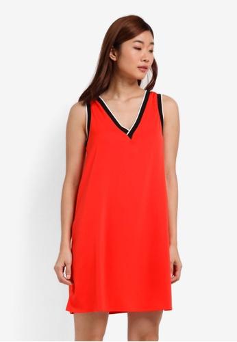 ZALORA orange Tipped Rib Dress 0D75BAABA54AE2GS_1