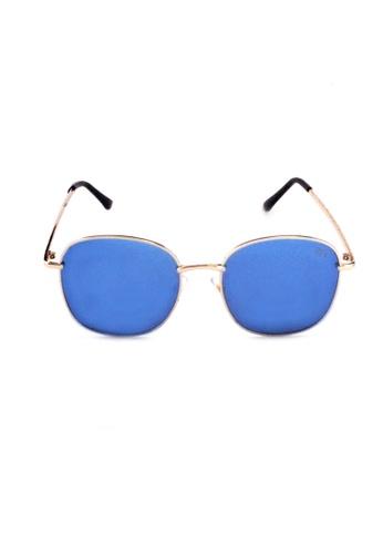 2i's to eyes blue Sunglasses Polarized│Rectangular Round Frame│Blue Lens│UV400 Protection│2is RenB 118E3GL91D4740GS_1