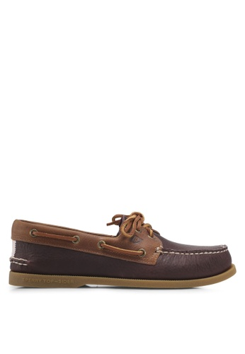 Sperry brown A/O 2-Eye Daytona Loafers & Moccasins 769D6SH9AAC529GS_1