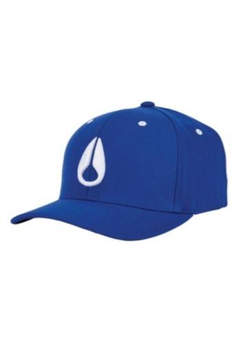 Nixon blue Nixon Deep Down FF Athletic Fit Hat Blue / White S/M - C10751386-22 930F4ACD1504E1GS_1